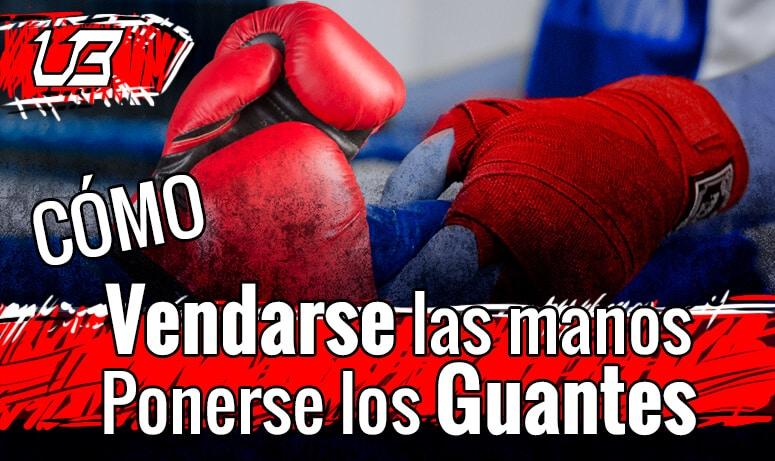 vendas y guantes de boxeo